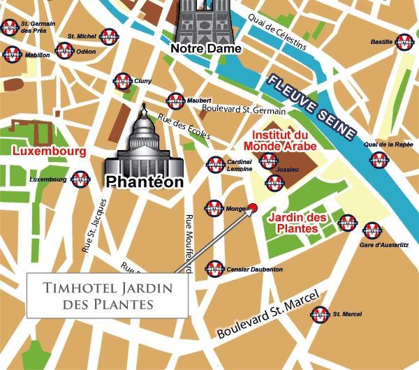 Come arrivare hotel timhotel jardin des plantes parigi - Timhotel jardin des plantes hotel paris ...