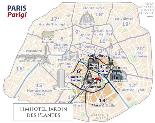 Come arrivare hotel timhotel jardin des plantes parigi for Timhotel jardin des plantes